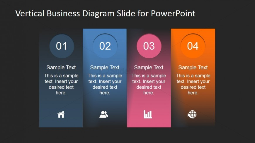 Vertical Banner Design for PowerPoint