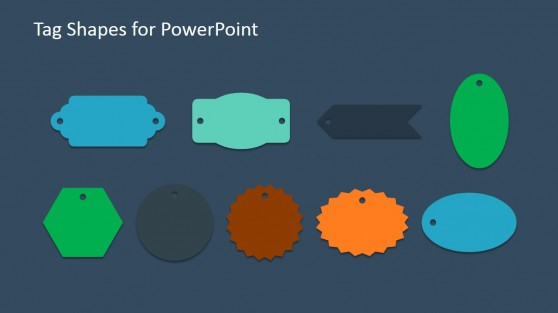 Modern Flat Tags for PowerPoint Presentations