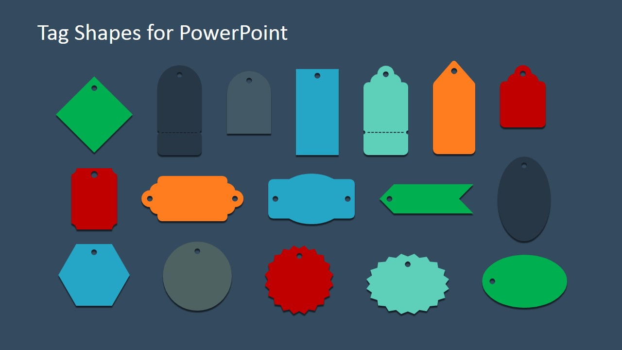 infographic tags shapes for powerpoint