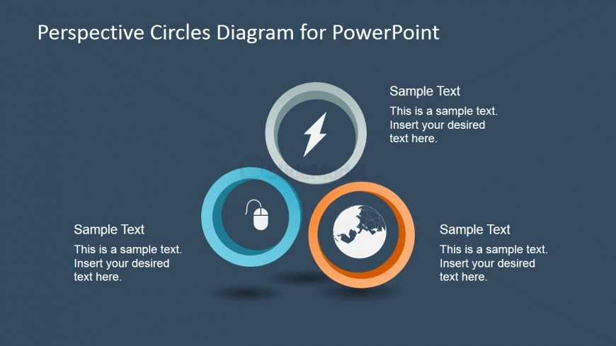 3 Circular Perspective Diagram for PowerPoint