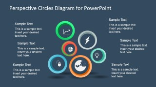 6 Circular Perspective Diagram for PowerPoint