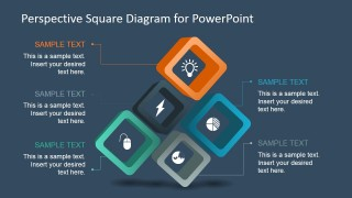 5 Steps Square Diagram Design for PowerPoint