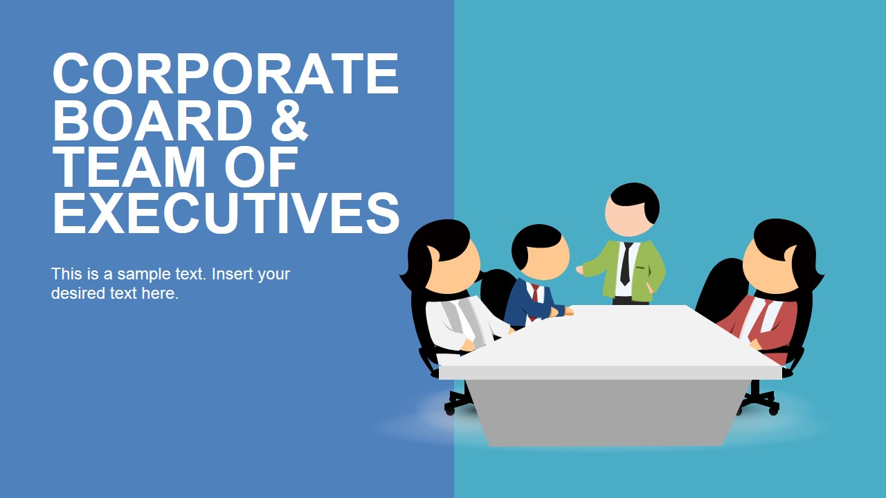 corporate board and team of executives