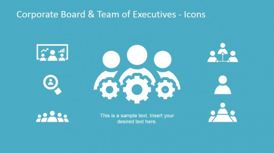 PowerPoint Icons for Corporate Board and Executives