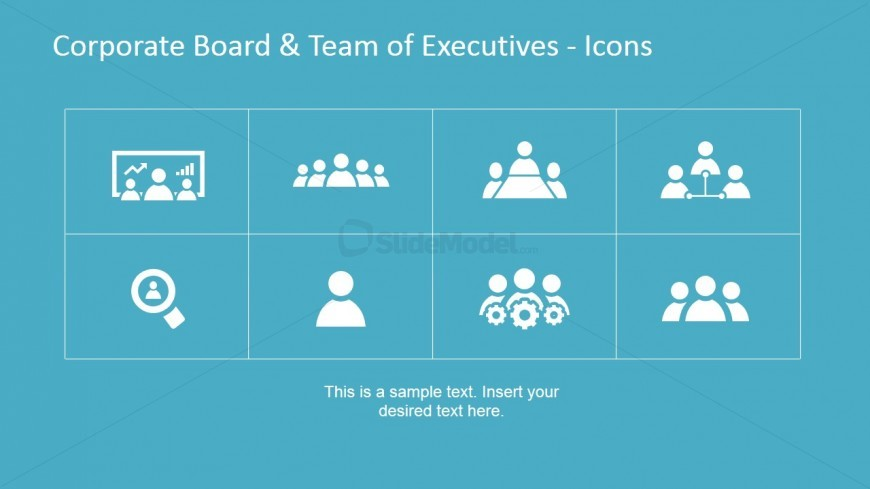 Icons for Presentations on Corporate Executives
