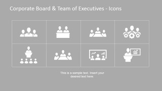 Eight Icon Placeholders for Organizational Set-up