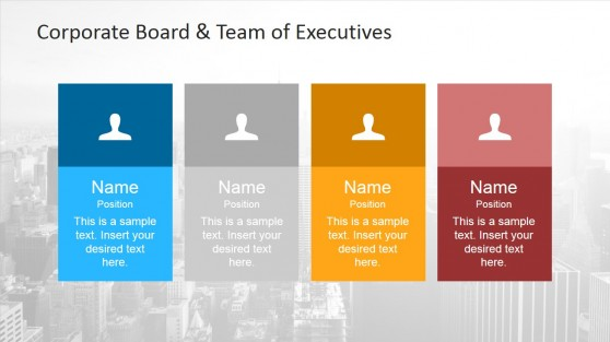 Team Line-up with Placeholders for PowerPoint