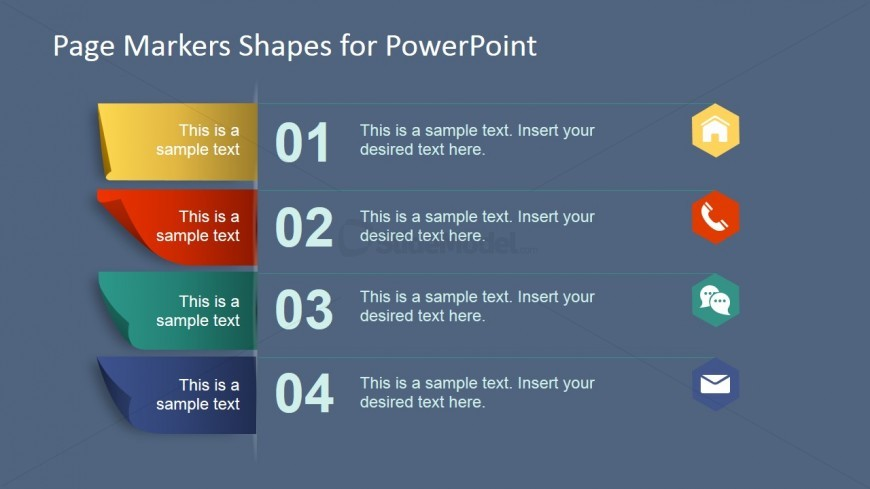 PowerPoint Shapes Featuring Paper Markers