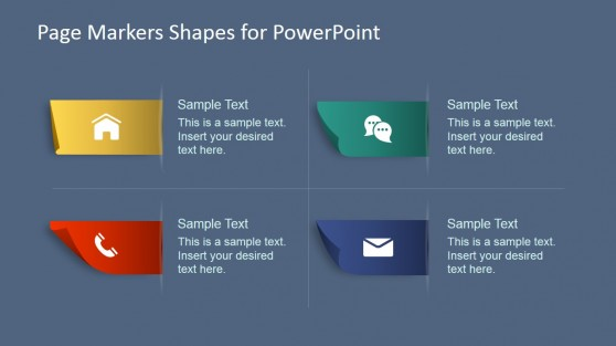 Paper Markers with PowerPoint Icons