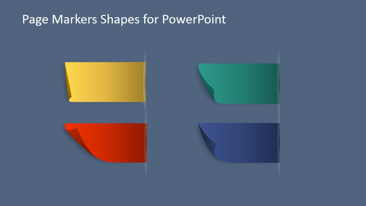 page markers shapes for powerpoint