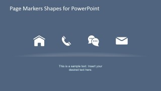 Slide with PowerPoint Icons to Decorate Paper Markers