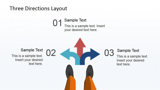 Numbered Direction Arrows PowerPoint Design