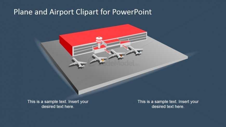 PowerPoint Shapes of Planes in an Airport