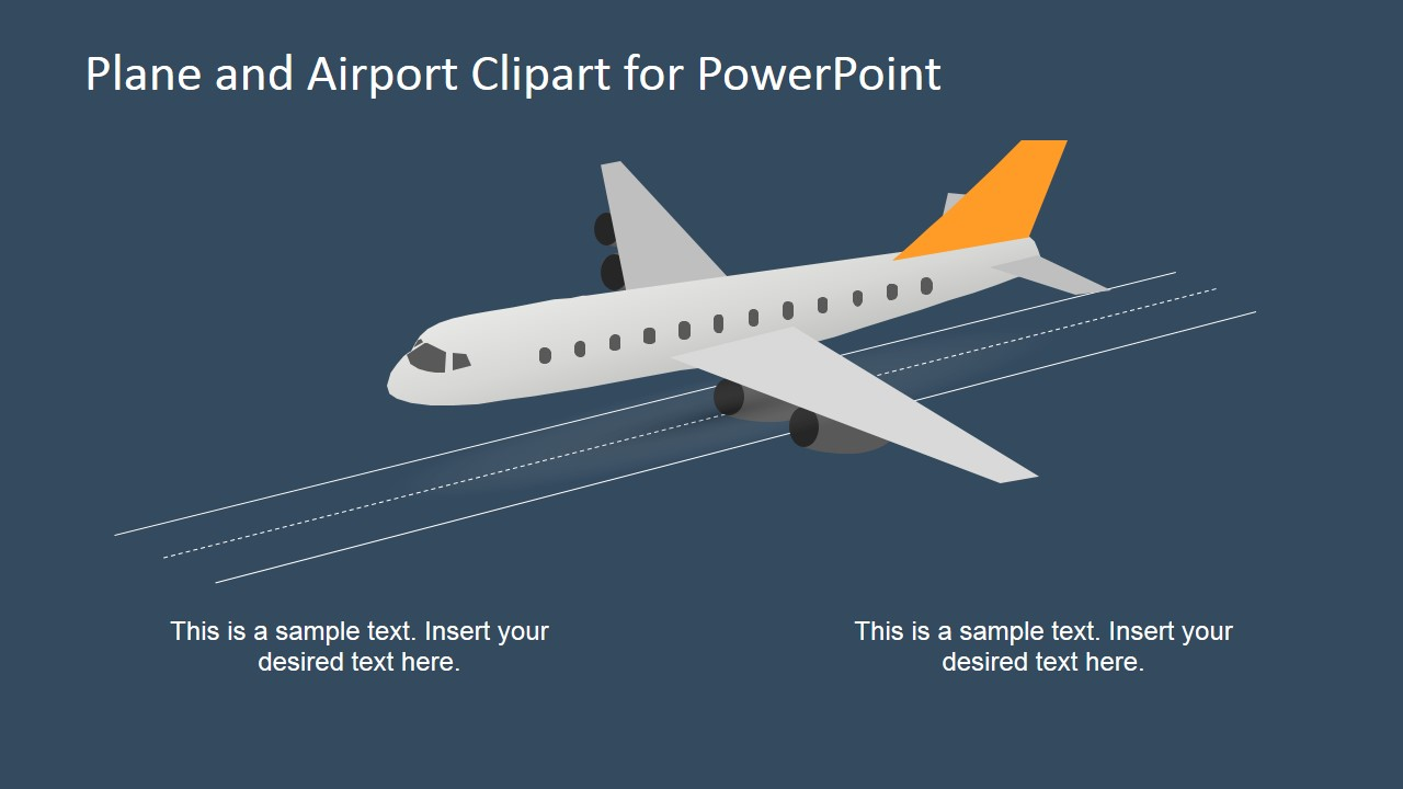 3d airplane and airport shapes for powerpoint slidemodel powerpoint shape of plan taking off toneelgroepblik Image collections