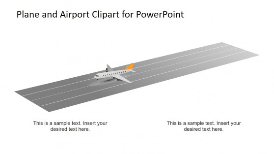 Plane and Airstrip PowerPoint Clipart Scene
