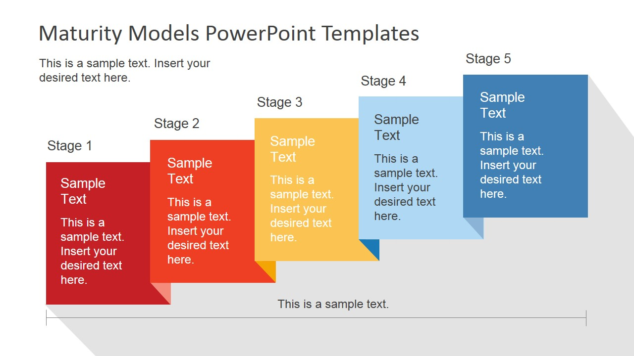 5 stages powerpoint maturity model
