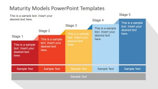 PowerPoint Model Bar Chart for Business Growth