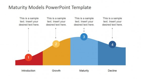 Flat PowerPoint Product Life Cycle Diagram