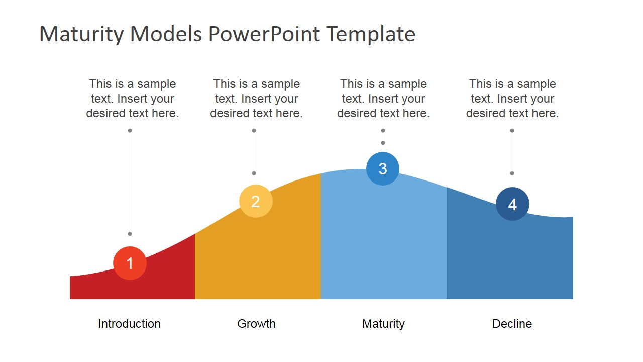 Flat powerpoint product life cycle diagram slidemodel for This is your life template
