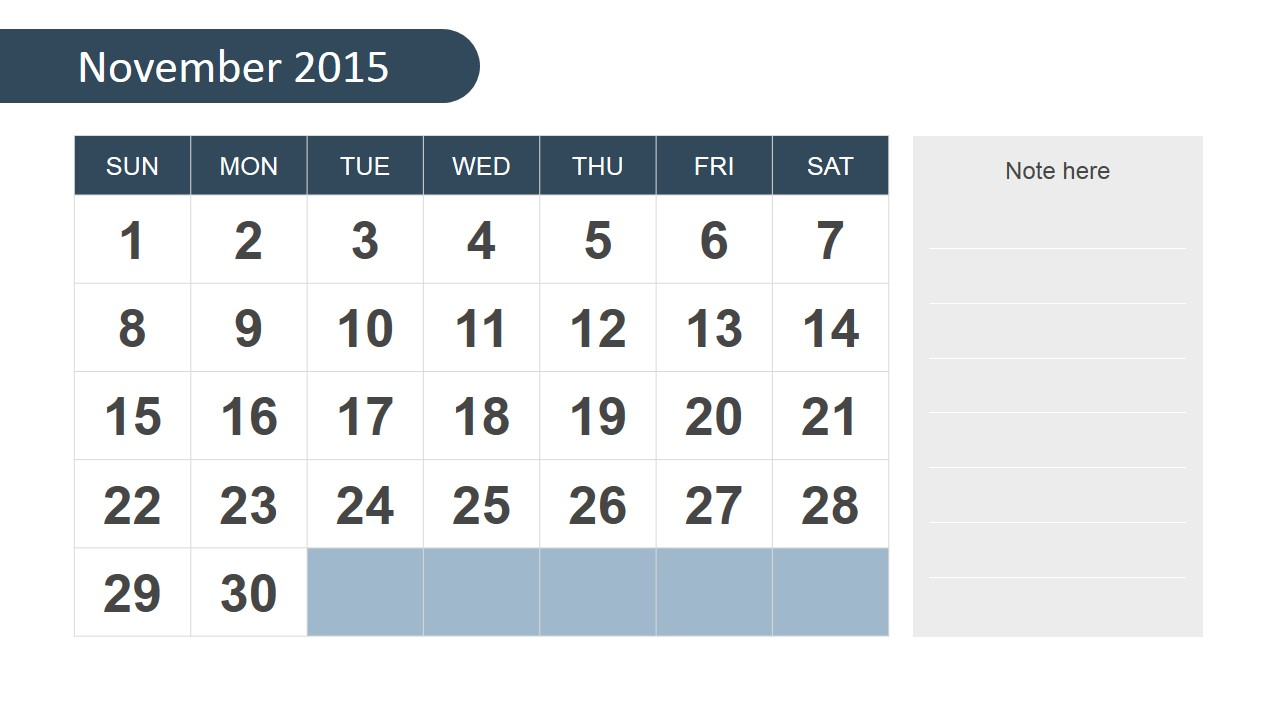 november 2015 calendar template