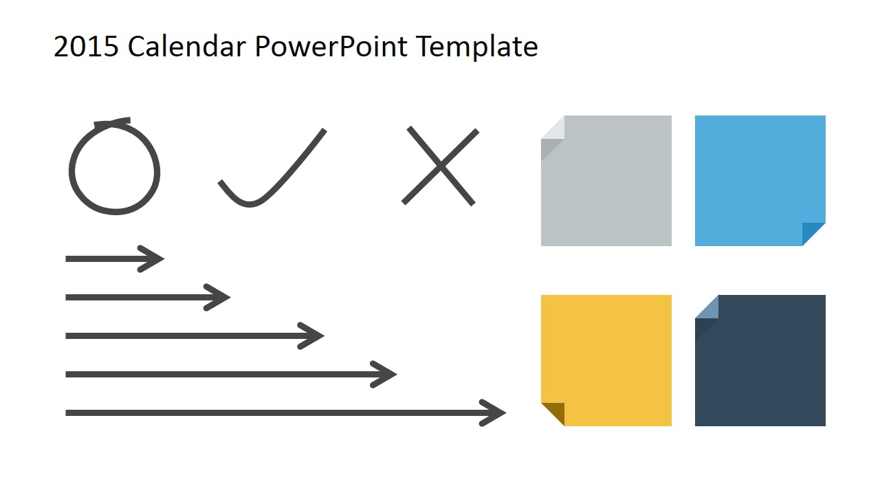 free 2015 calendar template for powerpoint slidemodel