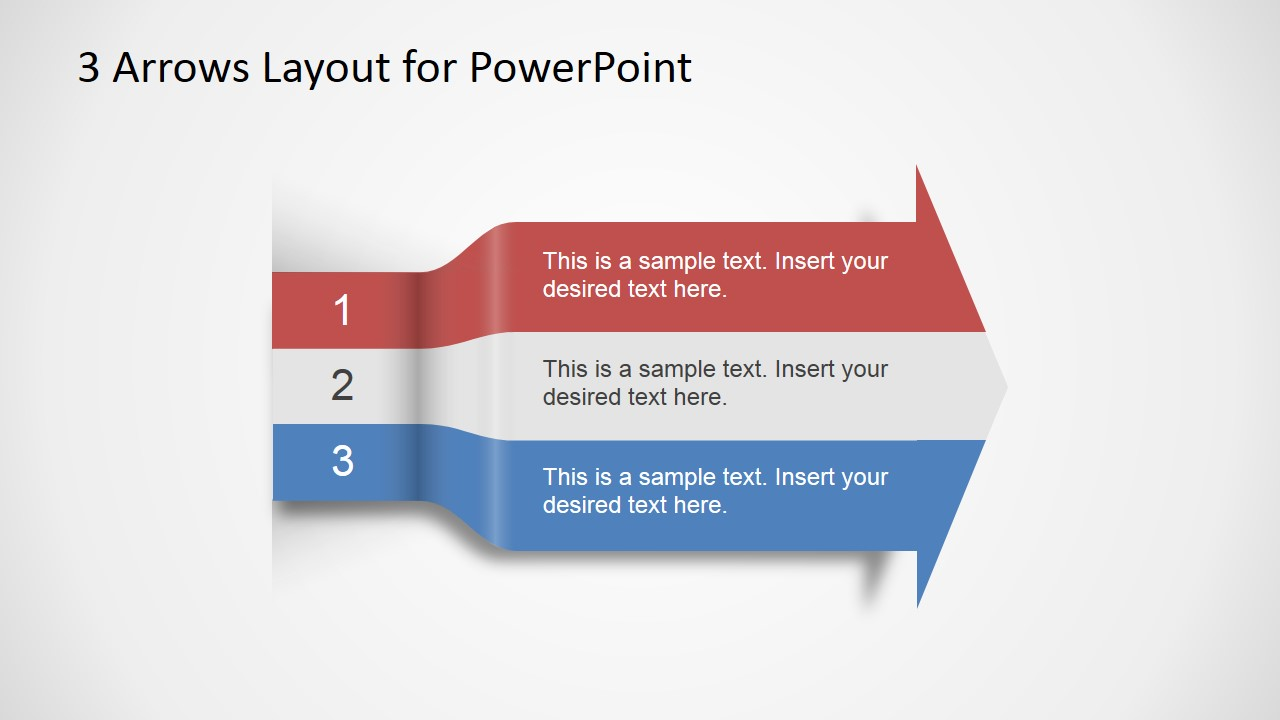 3 Arrows Text Layout Template For Powerpoint Slidemodel