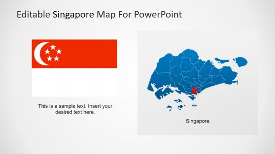 Singapore Flag and Map for PowerPoint