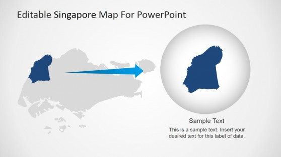Highlighted State in Singapore Map for PowerPoint