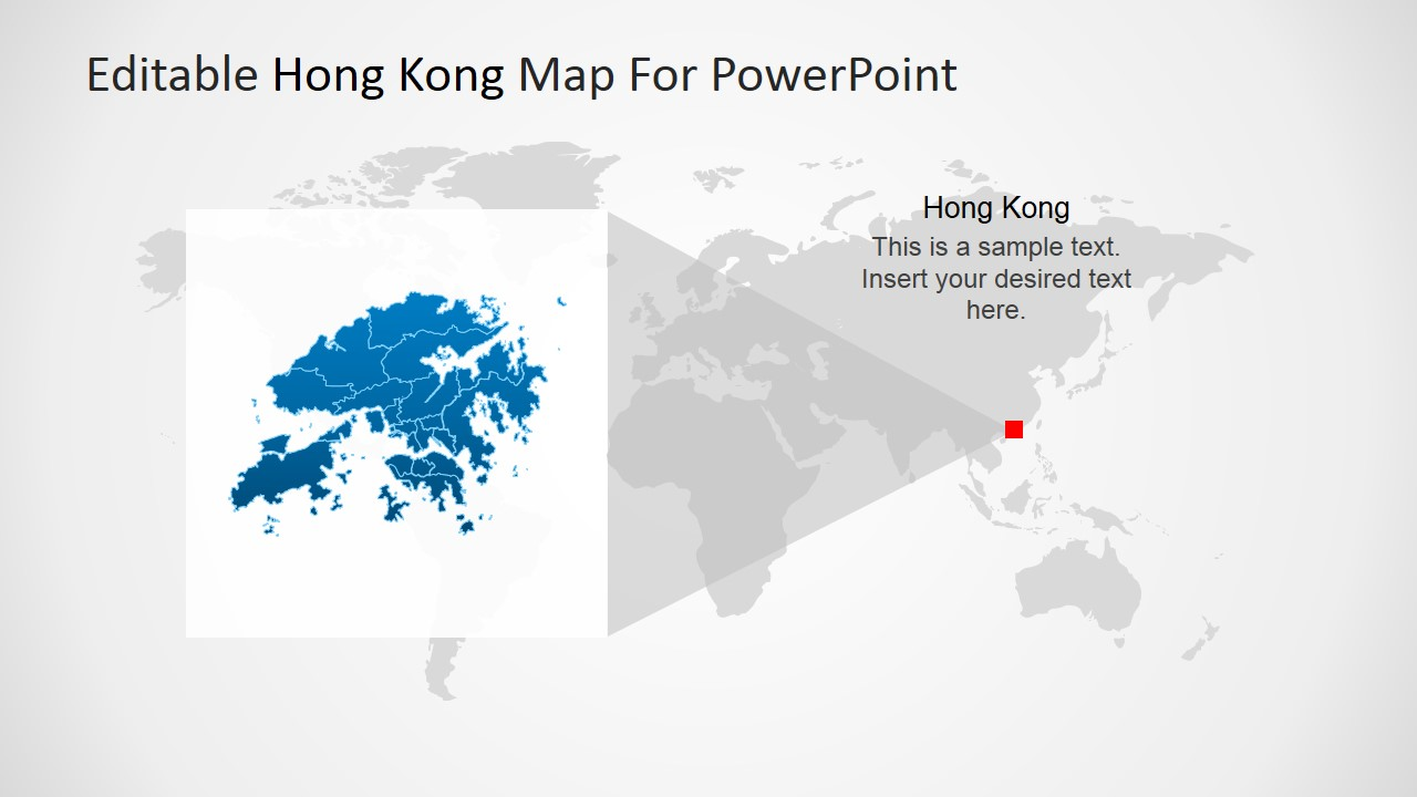 editable hong kong map for powerpoint