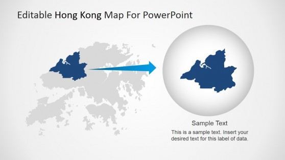 Hong Kong Map Highlighting Northwestern Area
