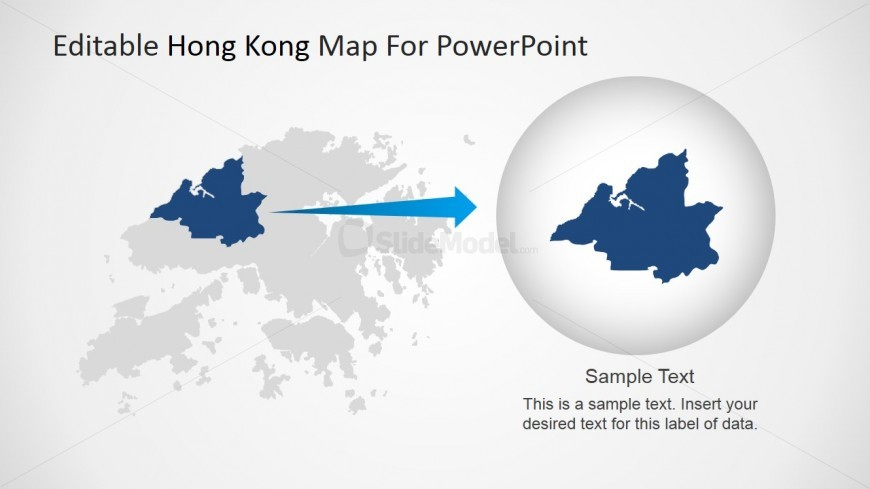 hong kong map highlighting northwestern area - slidemodel, Presentation templates