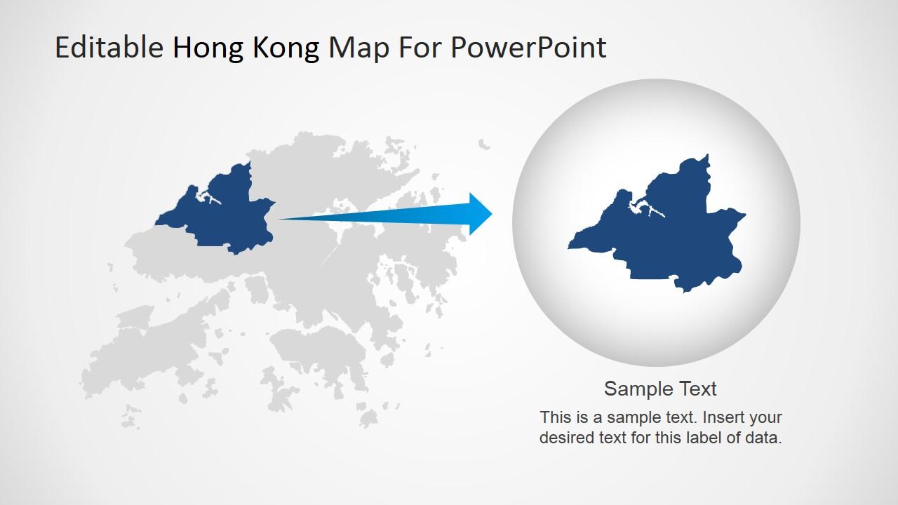 editable hong kong map for powerpoint - slidemodel, Modern powerpoint