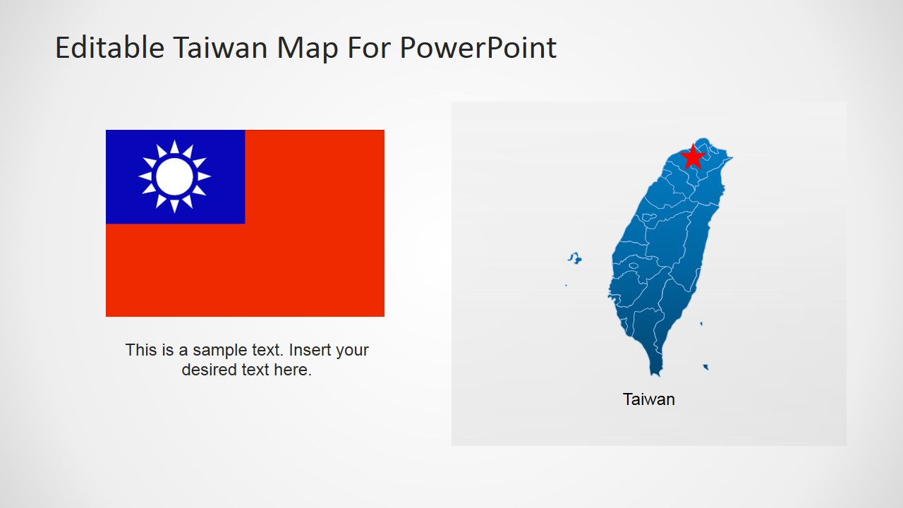 Taiwan Editable PowerPoint Map SlideModel