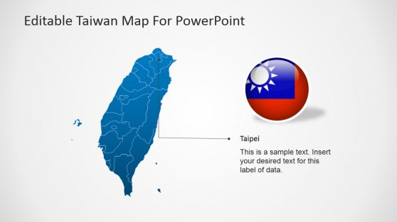 Taipei Taiwan Capital Marker for PowerPoint