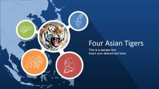 PowerPoint Slide Cover of Four Asian Tigers