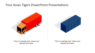 Clip Art for PowerPoint of Truck and Container