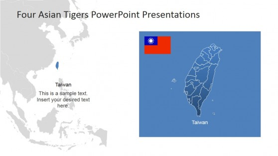 Southeast Asia Background and Taiwan PowerPoint Map