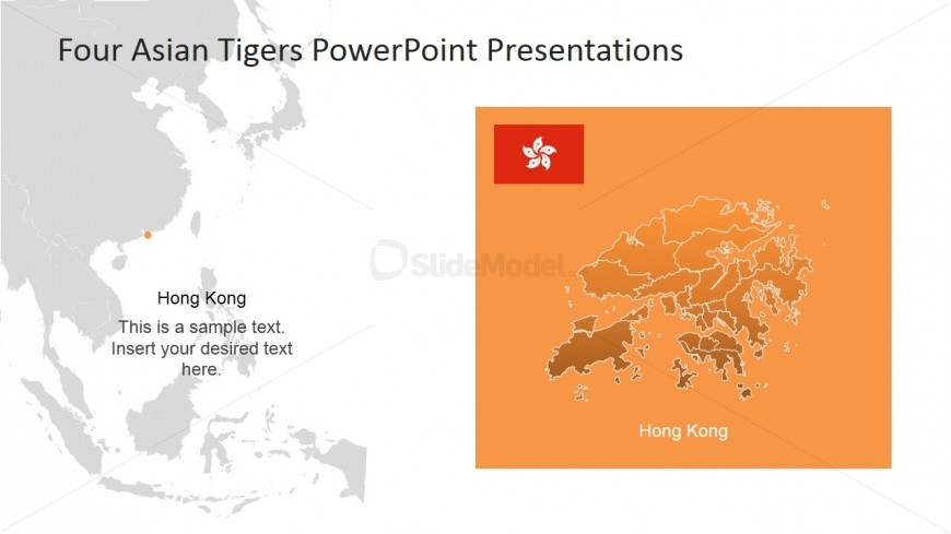 Hong Kong PowerPoint Map Asian Tiger