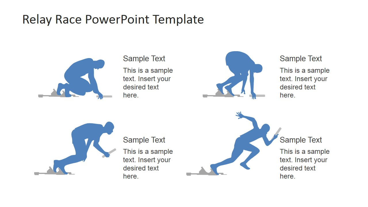 Runner's Starting Positions PowerPoint Shapes