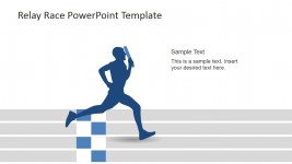 Runner Reaching the Finish Line PowerPoint Scene