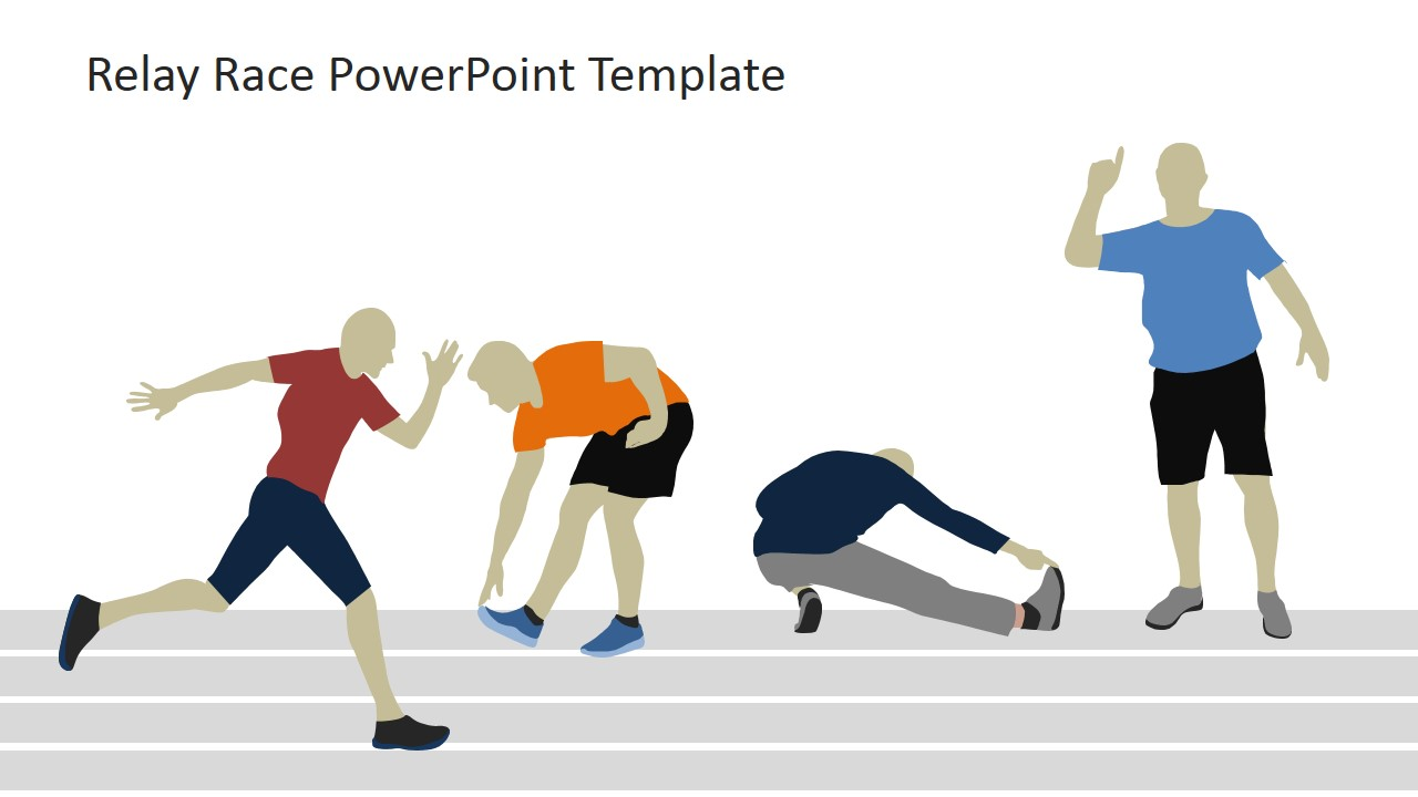Relay Race Warm-up PowerPoint Clipart