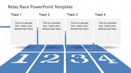 Numbered Race Track Lanes for PowerPoint