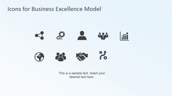 Business Excellence PowerPoint Model (EFQM) Clip Art Icons