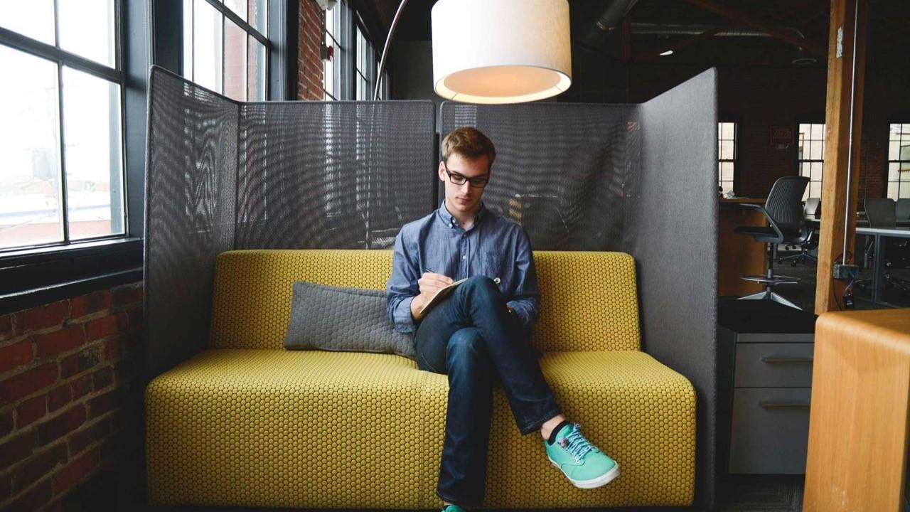 Male Employee - Solo Brainstorming Scene