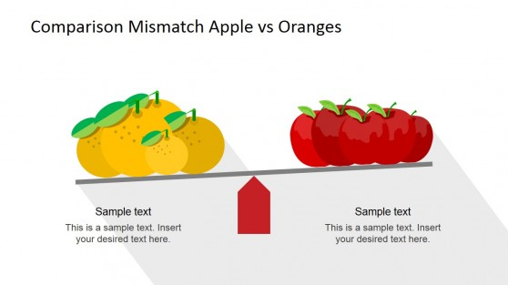 Comparison of Apples and Oranges PowerPoint Scene