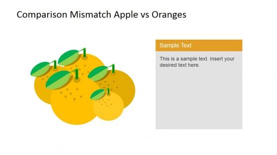 Oranges Clipart Descriptive PowerPoint Slide