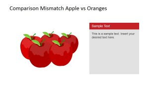 Material Design Apples Clipart for PowerPoint