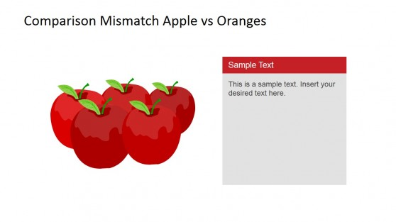 Flat Apples Clipart PowerPoint Slide