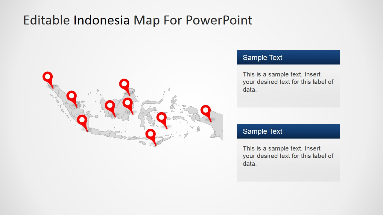 Editable indonesia powerpoint map slidemodel powerpoint indonesia political outline toneelgroepblik Image collections