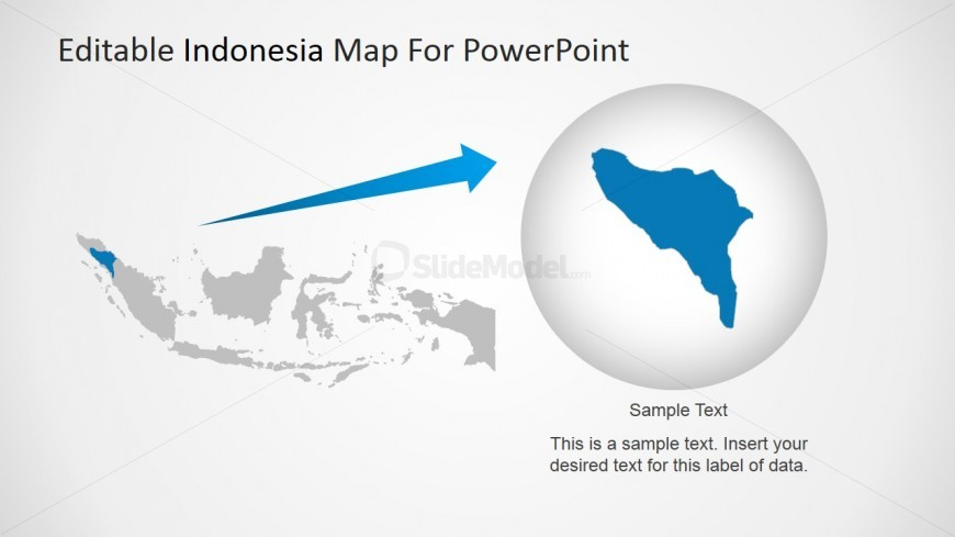 Highlighted state at indonesia powerpoint map slidemodel powerpoint map of indonesia with state highlighted gumiabroncs Choice Image
